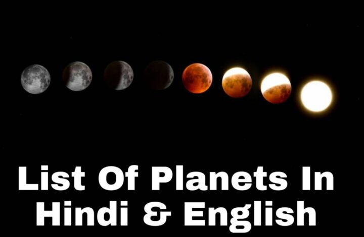 List of planets in Hindi and English