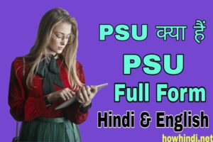PSU full form in Hindi & English